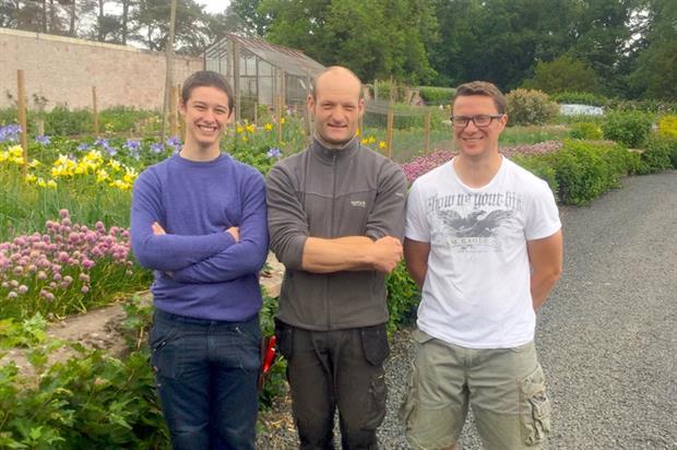 James Morton, Rupert Norris (Head Gardener) and Alex Wilkinson