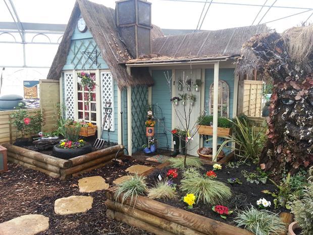 Moulton garden centre display