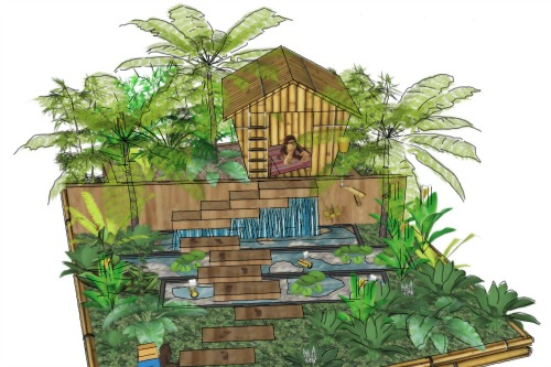 Design for NSPCC Scotland's 'Garden of Childhood Adventure' designed by Louise Wakeling