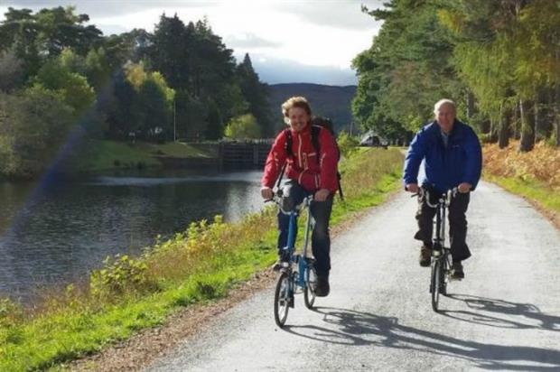 Caledonia Way is part of the National Cycle and Walking Network. Image: Sustrans