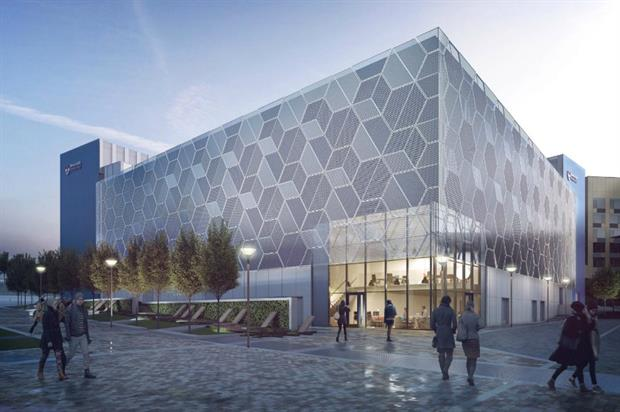 CGI of the new Learning and Teaching Centre. Image Sheppard Robson