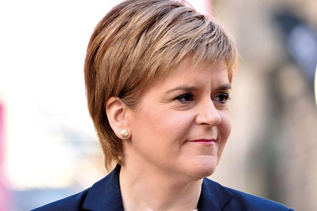 Sturgeon: pressing for a second vote on independence - image: SNP