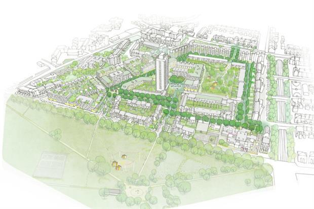 Preliminary drawing of estate plan. Image: Karakusevic Carson Architects