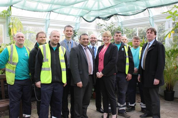 College, council and parks staff. Image: Oldham Council