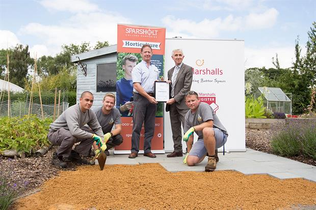 Paul Doidge, Tim Jackson and the horticulture team - image: Sparsholt College