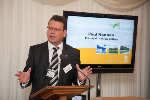 Hadlow College principal Paul Hannan at the House of Commons launch