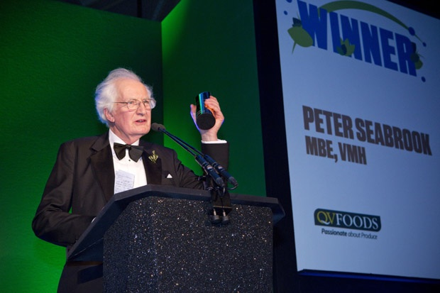 National journalist and broadcaster Peter Seabrook accepts Lifetime Achievement Award
