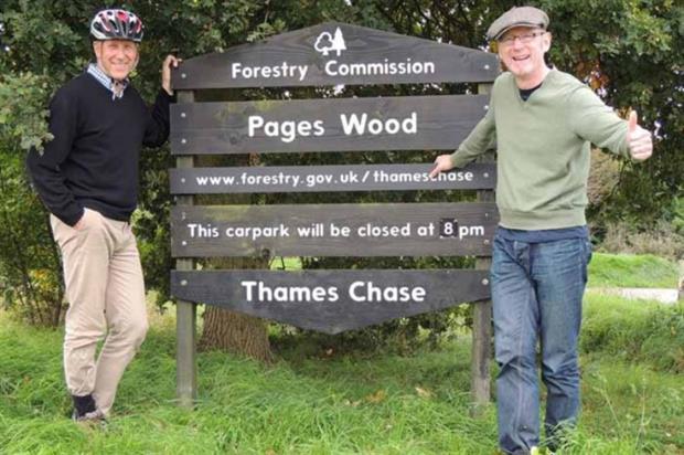 Peter Wilkinson and John Meehan visiting Thames Chase last year. Image: John Meehan