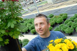 Former Lehman Brothers employee Phil Sinclair now a manager at Golden Acres Nursery - photo: Golden Acres Nursery