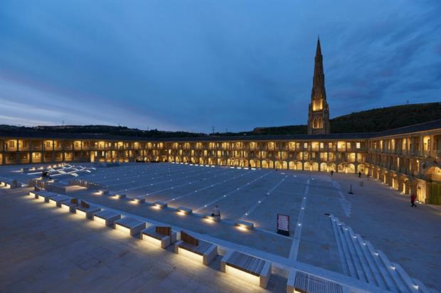 Gillespies' Piece Hall design at night. All images: © Paul White