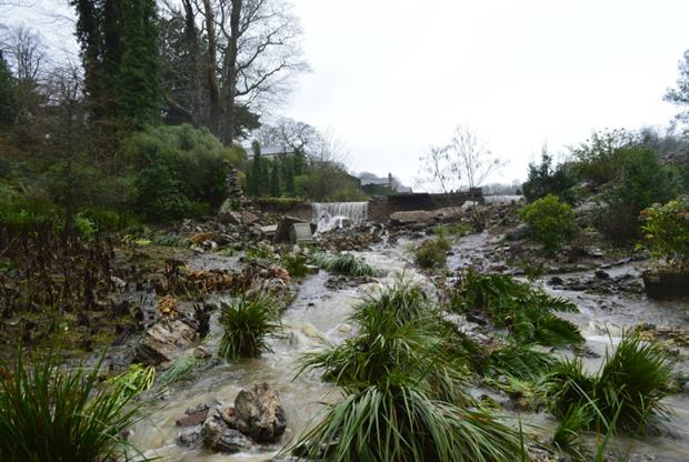 The flood destroyed the garden. Image: Plas Cadnant Estate