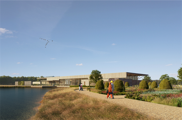 View of the Welcome Centre. Image: Hodder and Partners