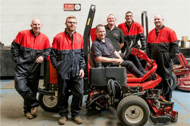 New members of the Reesink team in East Anglia. Image: Reesink Turfcare