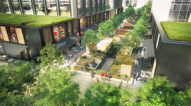 "A ""sustainable amenity-rich environment"" is planned. Image: Studio RHE"
