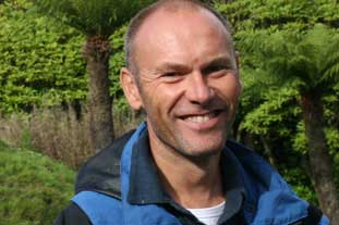 Richard Baines, curator, Logan Botanic Garden, Wigtownshire - photo: HW