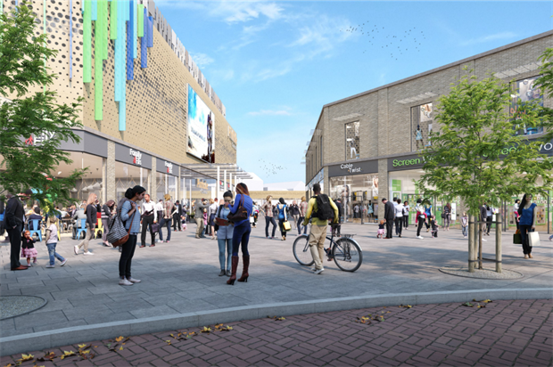 Artist's impression of the Royal Arcade designs. Image: Cheshire East Council