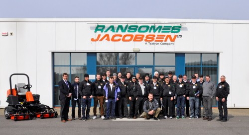 The SGA Norrland group at Ransomes Jacobsen HQ