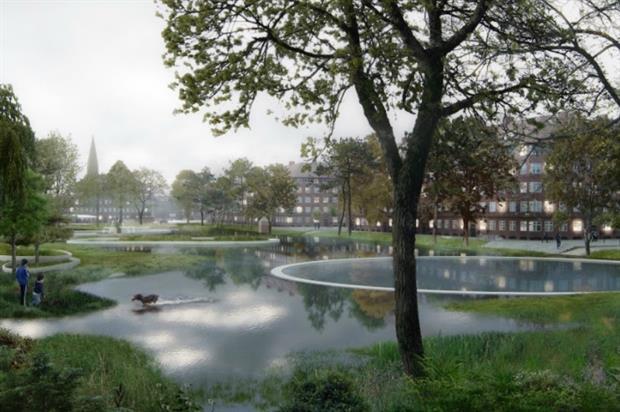 How the Soul of Nørrebro handles heavy rainfall. Image: SLA