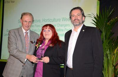HW reporter Sarah Cosgrove with Graham Paskett of Paskett PR and GMG Journalist of the Year Matthew Wilson