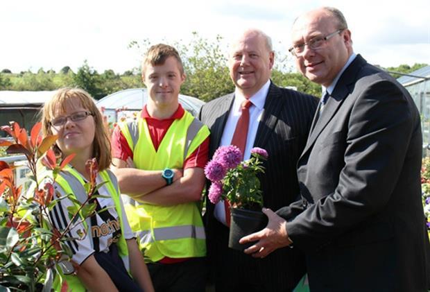 Grahame Morris MP (left) visits Shaw Trust project