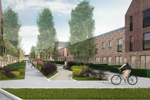 Boulevards and low-rise housing will replace Sighthill's tower blocks. Image: LDA