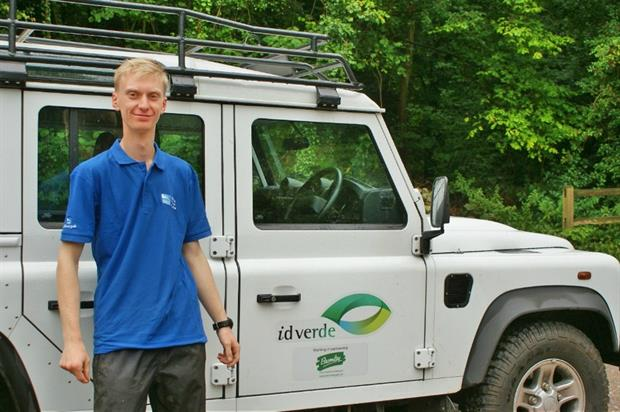 RSPB officer Steven Lofting will be based with idverde's Bromley team. Image: idverde