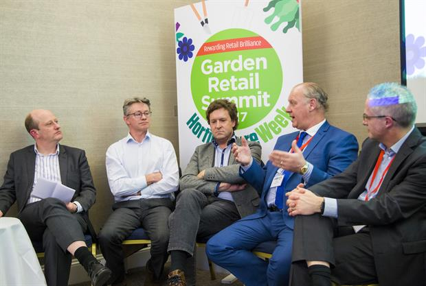 Garden Retail Summit 2017:  Andy Saunders, Martin Breddy, Alan Roper, Andy Bunker and Clive Daley debate Brexit