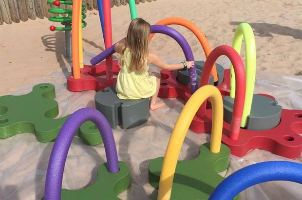 Aliens is designed for children to build their own play areas. Image: Sutcliffe Play