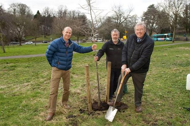 Cllr Swithenbank (with spade) and colleagues - image: Northumberland County Council