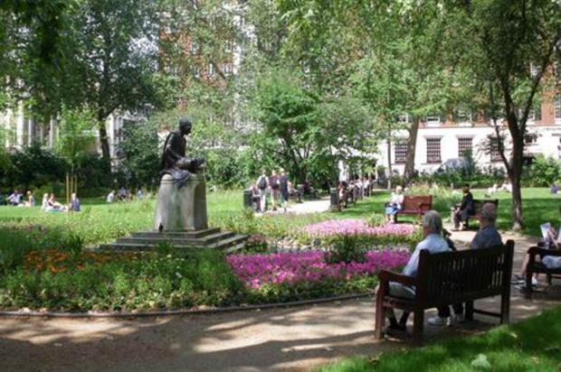 Tavistock Square with naturalistic planting. Image: Camden Borough Council