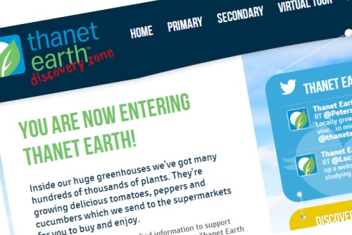 The new Thanet Earth DIscovery Zone website