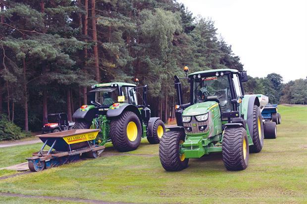 MJ Abbott: contractor has added to fleet of John Deere tractors for sports turf work - image: John Deere