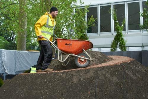 Chris Parrott on site at RHS Chelsea Flower Show. Photo: Charlie Hopkinson