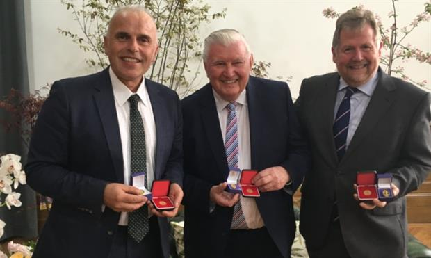 (left to right) Garrett, Simpson and Kirkham at the event. Image: HW