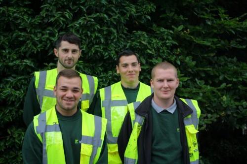 New Vivark recruits: keen to get working in grounds maintenance