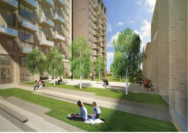 Artist impression of the podium gardens for residents. Image: Capital & Regional
