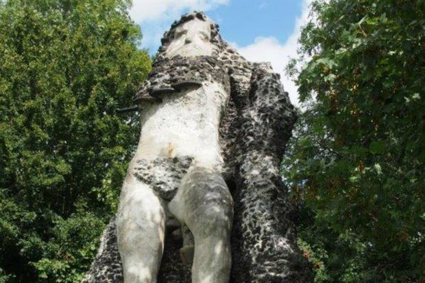 The restored Warmley Giant. Image: Cliveden Conservation