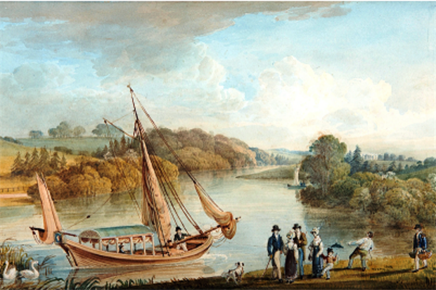 A painting of the garden it its heydey. Image: National Botanic Garden of Wales