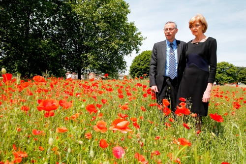 Lord Mayor of the City of London Fiona Woolf with her consort Nicholas Woolf in West Ham Park