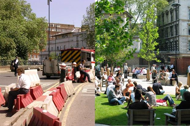 West Smithfield / Giltspur Street before and after - images: City of London