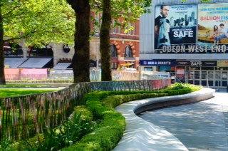 Leicester Square's West Terrace, showing the ribbon design. Picture: Burns + Nice