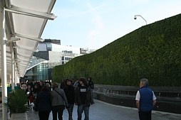 Green wall at Westfield London - photo:HW