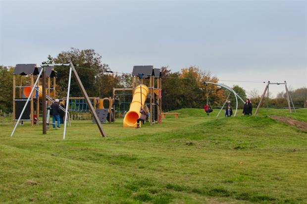Whitehouse Park play area. Image: The Parks Trust, Milton Keynes