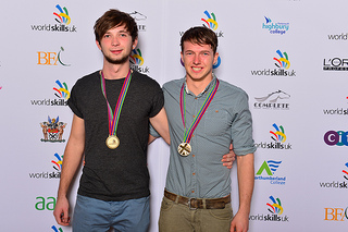 2013 winners:  Daniel Handley of Sparsholt College in Hampshire and Daniel Brennen from Derby College, Derby