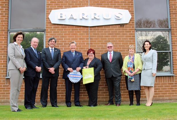 Pictured left to right: Keryn Clarke, Director of Operations, E. P. Barrus Ltd, Andrew Feilden, Non-Executive Director, E.P. Barrus Ltd, Robert Muir, Managing Director, E. P. Barrus Ltd, Robert Glen, Chairman, E.P. Barrus Ltd, Karen Curtin, Managing