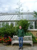 Wayne William with the agave at Birmingham Botanic Gardens