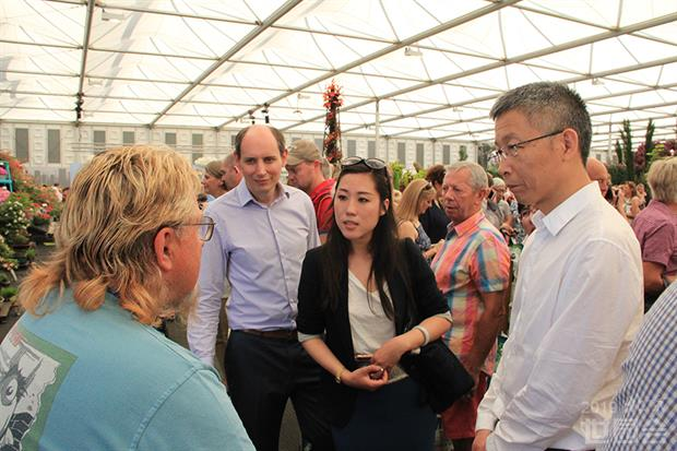 Tim Briercliffe and Chinese delegates at Chelsea - image: Beijing Expo