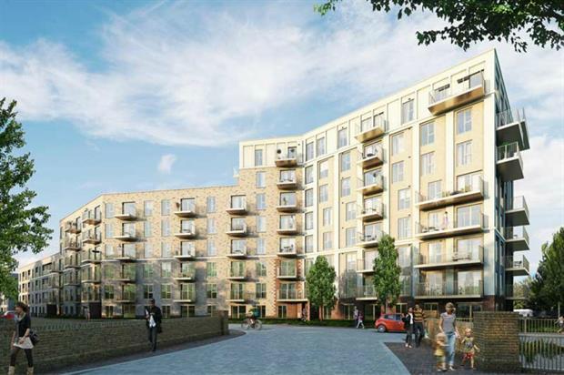 Barratt's Catford Green site in south London. Image: Barratt Developments