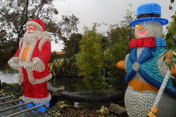 Christmas display: at Stewart's garden centre - image: HW