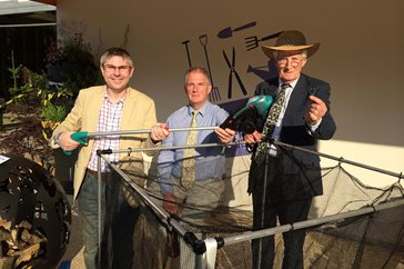 Chris Harrop, Dougal Philip and Peter Seabrook with award winners